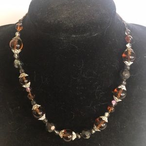 """""""BROWN GLASS BEAD"""" NWT 2 piece necklace set."""